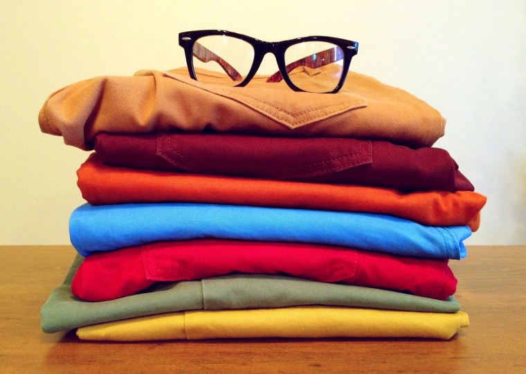 Stack of Colored Chinos