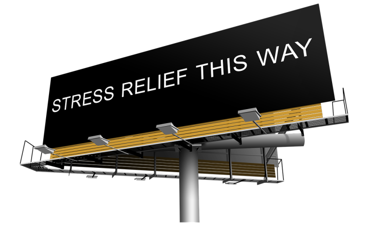 Stress relief sign, exercise