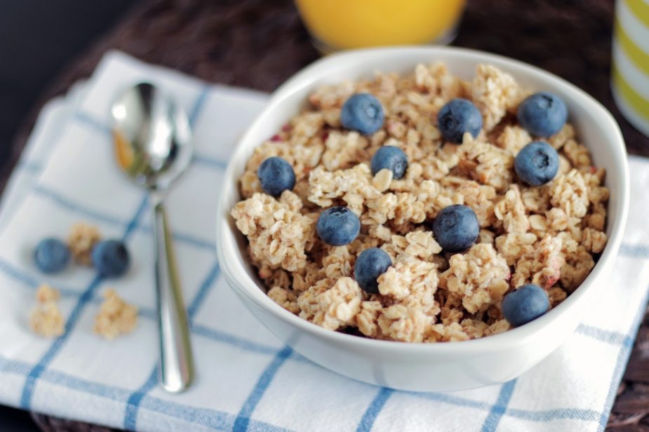 Granola clusters with berries
